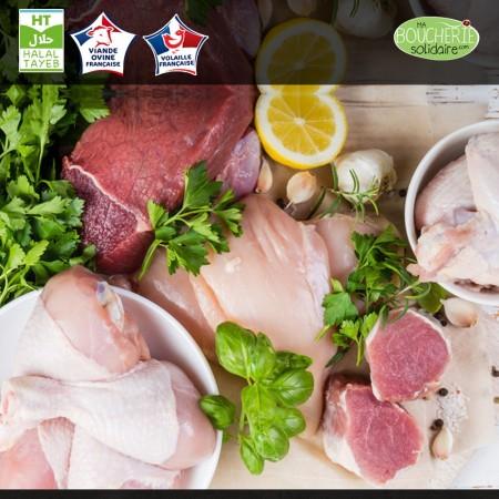 colis de viande d'agneau et  volaille issu d'élevage naturel éthique