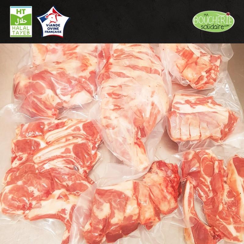 3kg de viande d'agneau Naturel Ethique français